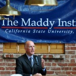 Gov. Jerry Brown speaks to Maddy Associates at the Downtown Club